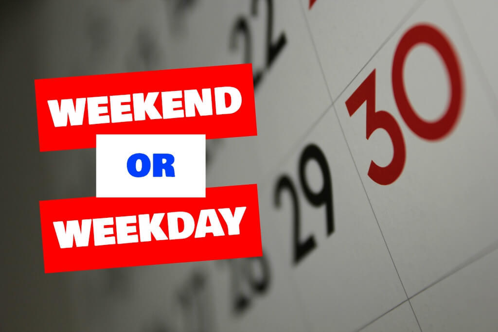 A Weekend or A Weekday Move?